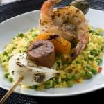 Paella Shrimp Skewer
