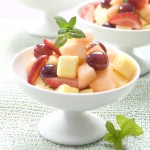 Sunset fruit salad with Cantaloup